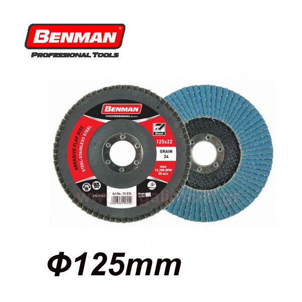 BENMAN TOOLS Standard line Δίσκοι φτερωτοί Φ125mm