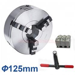 Τσοκ τόρνου με 3 μορσέτα 125mm (DIN 6350)