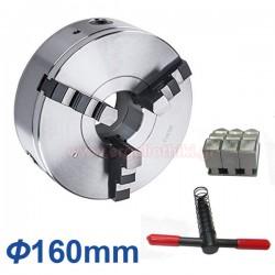 Τσοκ τόρνου με 3 μορσέτα 160mm (DIN 6350)