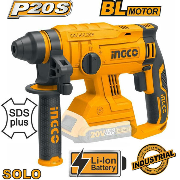 INGCO CRHLI2201 Πιστολέτο περιστροφικό SDS-Plus 20V SOLO (χωρίς μπαταρία και φορτιστή)