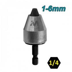 "WHIRLPOWER 969-5-06314 Αυτόματο τσόκ βιδολόγου 1/4""  1-6mm"