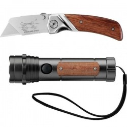 STANLEY 0-10-074 Σετ μαχαίρι αναδιπλούμενο με φακό Led