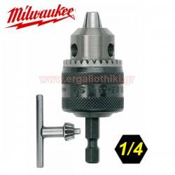 """MILWAUKEE 314867 Τσόκ βιδολόγου 1/4"""" 0,5-6,5mm"""