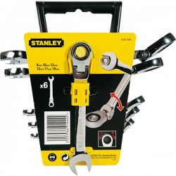 STANLEY 4-91-444 Σειρά κλειδιά Γερμανοπολύγωνα με καστάνια και άρθρωση