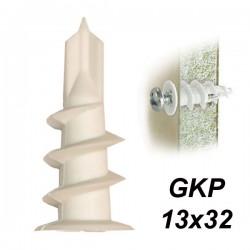 SMART GKP 13x32 Βύσμα γυψοσανίδας πλαστικό αυτοδιατρυτικό (100 τεμάχια)