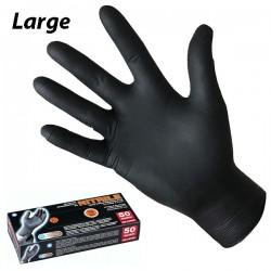 PG tools Art.506.11 Γάντια νιτριλίου μαύρα (50 τεμ)