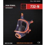 CLIMAX 732-N Μάσκα αερίων ολικής κάλυψης προσώπου δύο φίτλρων (χωρίς φίλτρα)