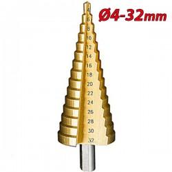 PASCO TOOLS 004963 Κλιμακωτό τρυπάνι - φρέζα μετάλλων 4-32mm