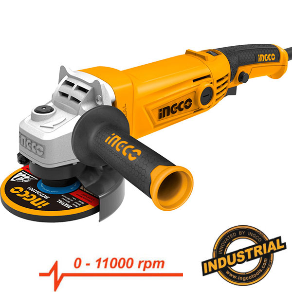 INGCO AG10108.5 Γωνιακός τροχός Φ125 ηλεκτρονικός