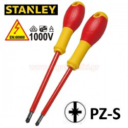 STANLEY FMHT0-62649 Κατσαβίδια 1000V ηλεκτρολόγων PZ/S 1x100 - PZ/S 2x125