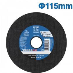 PFERD EHT 115-1.0 SG STEELOX Δίσκος κοπής 115mm