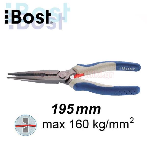 BOST 114.25 Μυτοτσίμπιδο ίσιο 195mm