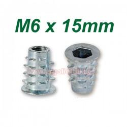 Βύσματα ξύλου M6 X 15mm με ALLEN (10 τεμάχια)