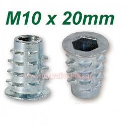 Βύσματα ξύλου M10 X 25mm με ALLEN (10 τεμάχια)