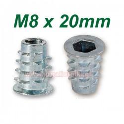 Βύσματα ξύλου M8 X 20mm με ALLEN (10 τεμάχια)