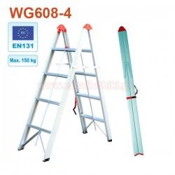 WG608-4 Σκάλα αλουμινίου πτυσσόμενη 4+4 σκαλιά