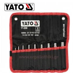 YATO YT-3590 Σειρά σγρόμπιες 9 τεμ