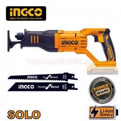 INGCO CRSLI1151 Σπαθόσεγα μπαταρίας 20V Li-Ion SOLO (χωρίς μπαταρία και φορτιστή)