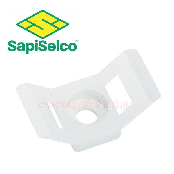 SAPISELCO SUP.2.401 Βάση δεματικών άσπρη 100τμχ