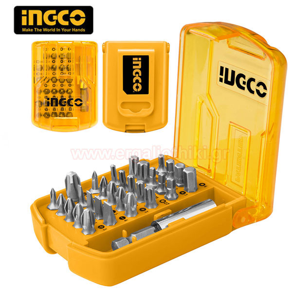 "INGCO AKSD08301 Σειρά μύτες 1/4"" 30 τεμαχίων"