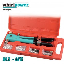 WHIRLPOWER 166-7-270M8 Πριτσιναδόρος για πριτσινοπαξιμάδια  Μ3 - Μ8