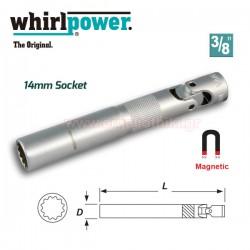 "WHIRLPOWER 12733-2-145 Μπουζόκλειδο μαγνητικό σπαστό 14 x 3/8"""
