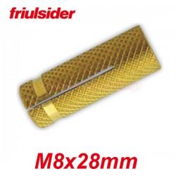 FRIULSIDER Βύσματα ξύλου ορειχάλκινα M8 X 28mm