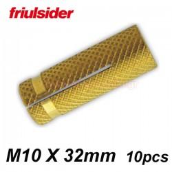 FRIULSIDER Βύσματα ξύλου ορειχάλκινα M10 X 32mm (10 τεμάχια)