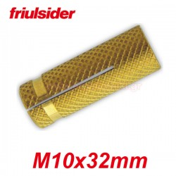 FRIULSIDER Βύσματα ξύλου ορειχάλκινα M10 X 32mm
