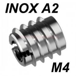 WS9280 Βύσμα ξύλου βιδωτό ανοξείδωτο M4
