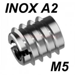 WS9280 Βύσμα ξύλου βιδωτό ανοξείδωτο M5