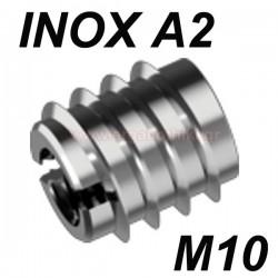 WS9280 Βύσμα ξύλου βιδωτό ανοξείδωτο M10