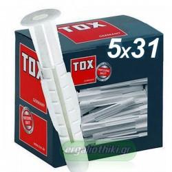 TOX Trika 5x31mm Βύσμα γενικής χρήσης (10 τεμάχια)