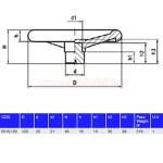 GETECH B1VL120 Βολάν σκέτα με 4 ακτίνες 120mm