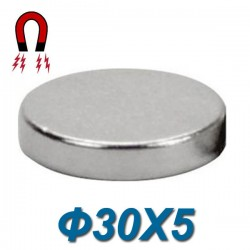 Μαγνήτης νεοδιμίου 35N στρόγγυλοι Ø30X5