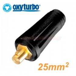 OXYTURBO 9TCC-10-25-P Βύσμα καλωδίων ηλεκτροκόλλησης αρνητικό