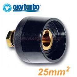 OXYTURBO 9TCC-10-25-PS Βύσμα καλωδίων ηλεκτροκόλλησης θηλυκό για σασί