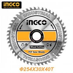 INGCO TSB125425 Δίσκος δισκοπρίονου κοπής ξύλου Φ254x30x40T