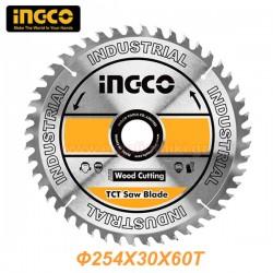 INGCO TSB125423 Δίσκος δισκοπρίονου κοπής ξύλου Φ254x30x60T