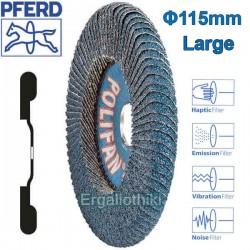 PFERD POLIFAN CURVE Φ115mm SGP-L Δίσκος γυαλόχαρτου γωνιακού τροχού