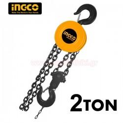 INGCO HCBK0102 Παλάγκο αλυσίδας 2 ton 3m