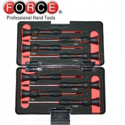 FORCE TOOLS 2088AT Σειρά κατσαβίδια ηλεκτρονικών Torx με τρύπα