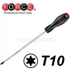 FORCE TOOLS 71630010 Κατσαβίδι Torx μακρύ T10