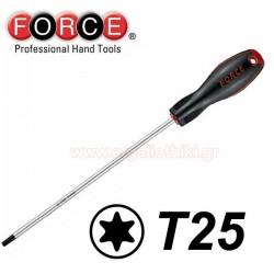 FORCE TOOLS 71630025 Κατσαβίδι Torx μακρύ T25