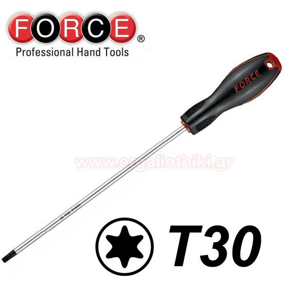 FORCE TOOLS 71630030 Κατσαβίδι Torx μακρύ T30