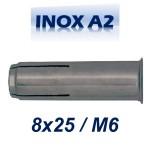 FRIULSIDER TAP 8x25/M6 Βύσμα ντίζας ανοξείδωτο A2