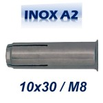 FRIULSIDER TAP 10x30/M8 Βύσμα ντίζας ανοξείδωτο A2
