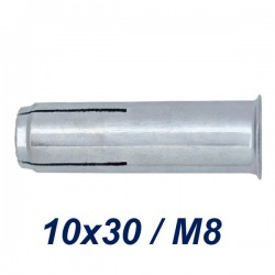 FRIULSIDER TAP 10x30/M8 Βύσμα ντίζας γαλβανιζέ