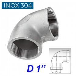 """INOX 304 Γωνία 90ο θηλυκή  1"""""""