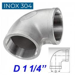 """INOX 304 Γωνία 90ο θηλυκή  1 1/4"""""""